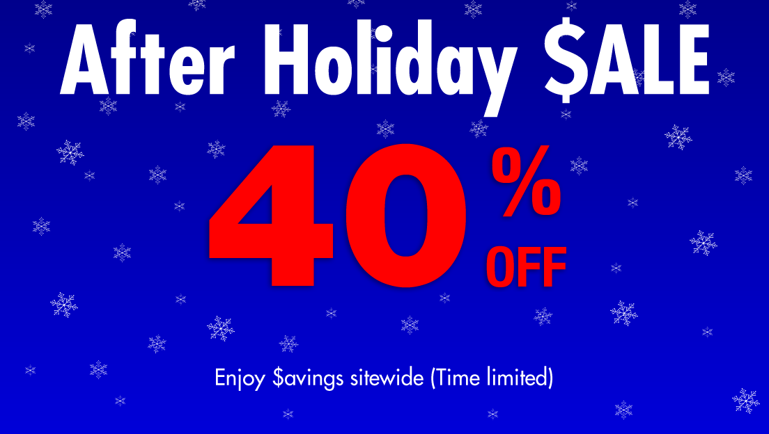 After Winter Holiday Sale - 40% Off!