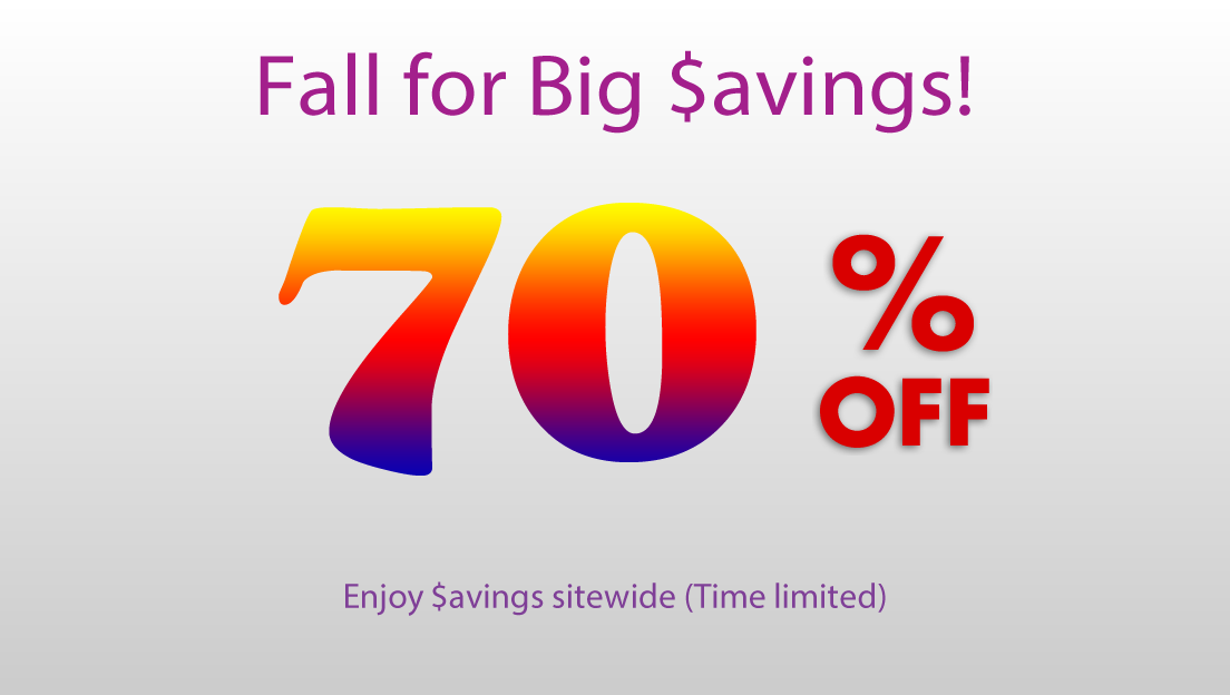 September Sale: 70% OFF! (time limited)