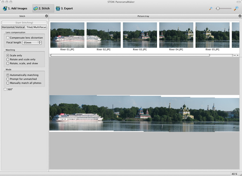 STOIK PanoramaMaker for Mac Screenshot