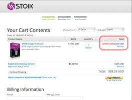 How to use STOIK promotional coupons - applied discount