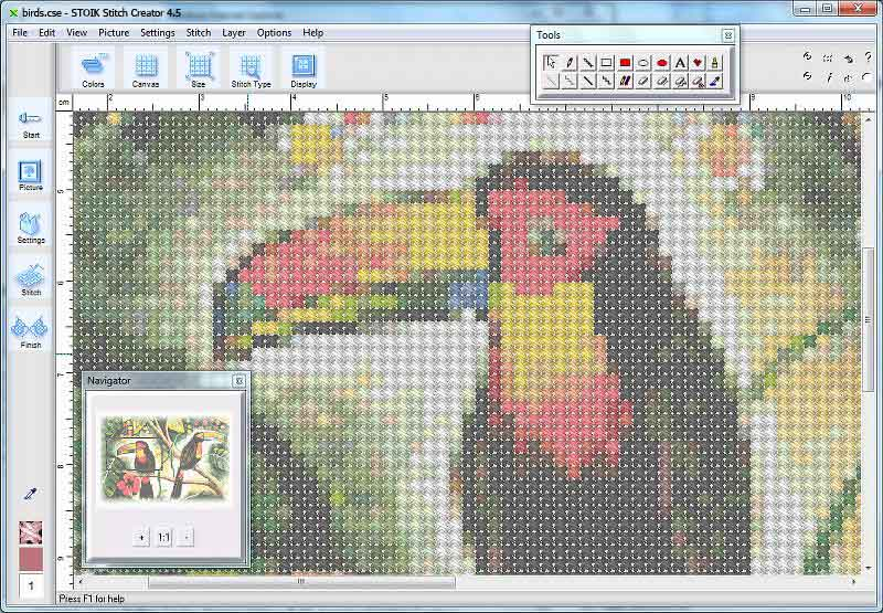 Convert Photo To A Crossstitch Pattern Stoik Beauteous How To Make Cross Stitch Patterns On Computer